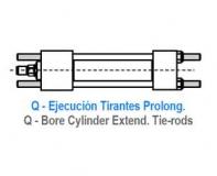 CILINDRO HIDRAULICO ISO 6020 2 TIRANTES PROLONGADOS AMBOS LADOS Q