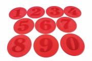 circulos caucho numerados, circulos numerados, marcas suelo