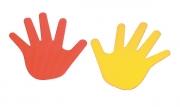 marca suelo, marca suelo mano, marca mano