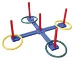 lanzamiento anillas, aros en cruz, lanzamiento aros, juego lanzamiento aros