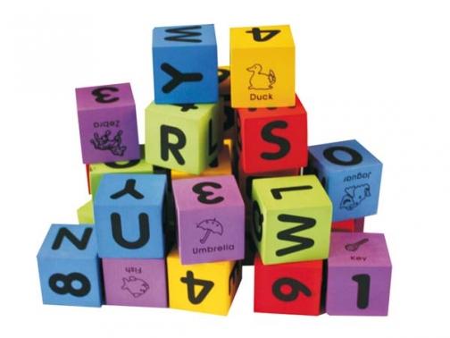 cubo foam, cubo letras, cubo numeros