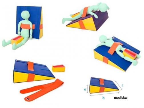 cuña postural, cuña foam, cuña espuma, cuña, cuña rehabilitacion