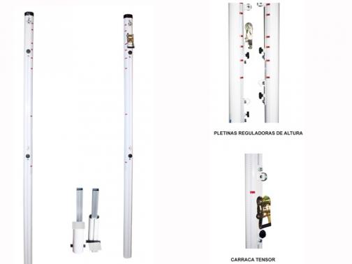 postes multideporte, postes multialturas, postes multideporte fijos