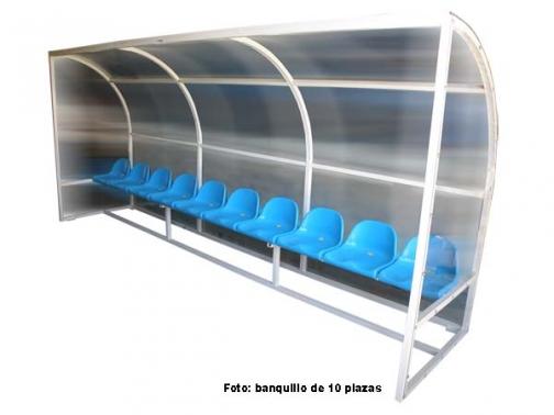 banquillo suplentes futbol, banquillo futbol, banquillo 4 plazas