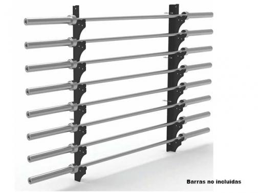 estanteria barras olimpicas, soporte barras olimpicas