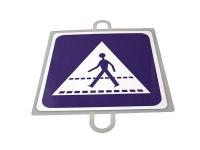 señal trafico, señal educacion vial, panel señalizacion trafico, señal trafico paso peatones, señal peatones