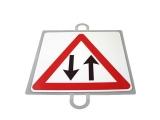 señal educacion vial, panel señalizacion trafico, señal trafico dos sentidos