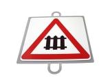 señal educacion vial, panel señalizacion trafico, señal trafico nivel con barreras