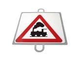señal educacion vial, panel señalizacion trafico, señal trafico nivel sin barrera