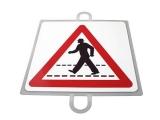 señal educacion vial, panel señalizacion trafico, señal peatones