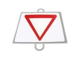 señal educacion vial, panel señalizacion trafico, señal trafico ceda el paso, señal ceda paso