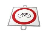 señal educacion vial, panel señalizacion trafico, señal prohibido ciclos