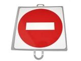señal educacion vial, panel señalizacion trafico, señal trafico prohibicion direccion