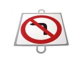 señal educacion vial, panel señalizacion trafico, señal trafico prohibido giro izquierda