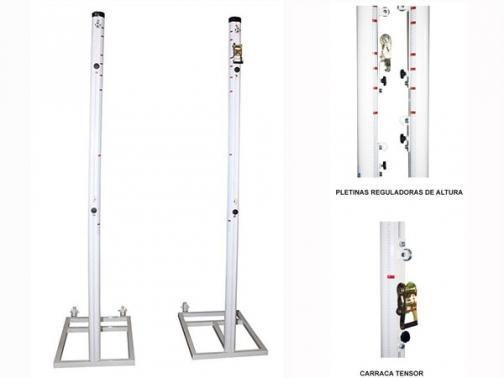 postes multideporte, postes multialturas, postes trasladables