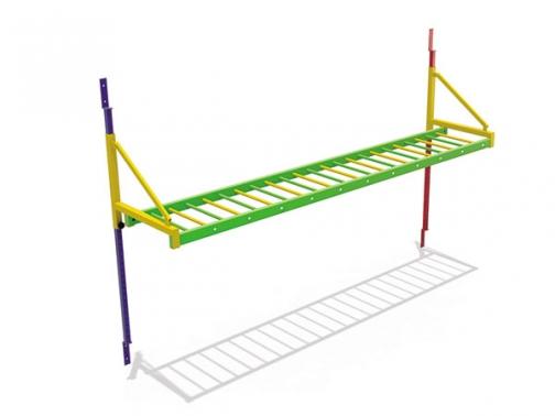 escalera horizontal, escalera braquiacion, braquiacion