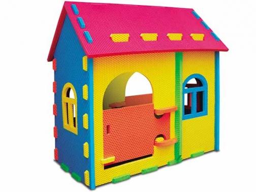 Casita multicolor tipo puzzle, casita eva