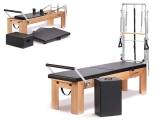 reformer classic physio con torre, reformer con torre