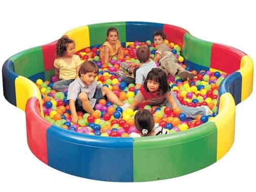 piscina sensorial, piscina sensorial bolas forma de ocho