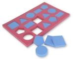 puzzle flotante, puzzle flotante formas geometricas