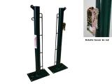 postes tenis fijos con base para atornillar, postes fijos con pletina para atornillar