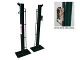 poste padel, postes padel fijos, postes padel con base para atornillar