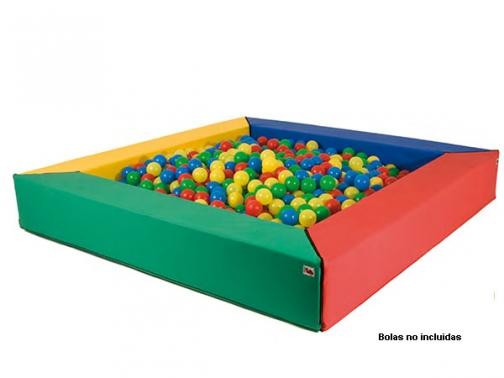 piscina foam, piscina bolas cuadrada, piscina cuadrada infantil