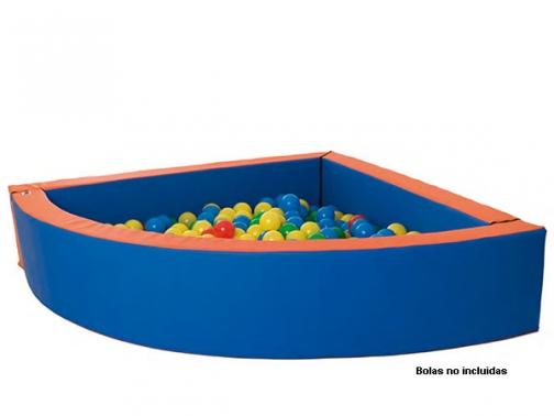 piscina bolas esquina, piscina bolas angulo, piscina bolas