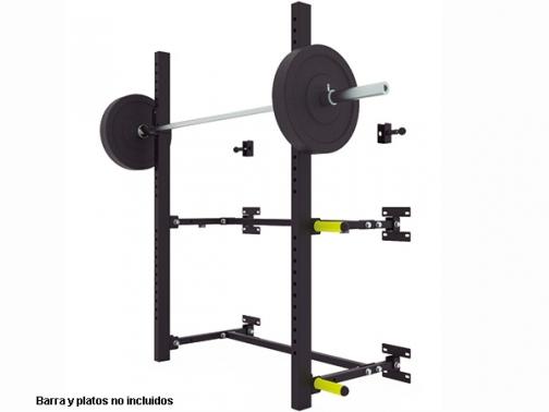 squat rack de pared, rack de pared plegable, rack crossfit