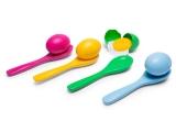 juego cucharas y huevos, juego cucharas huevos