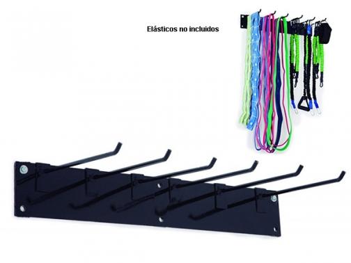 colgador elasticos pared, colgador pared elasticos, soporte metalico pared elasticos