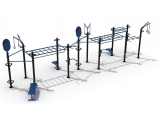 outdoor funtional training set 4, estructura street workout, estructura funcional exterior