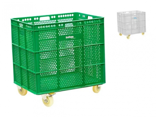 banasta, banasta con ruedas, caja portamaterial con ruedas