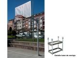 canastas basket fijas antivandalicas galvanizadas
