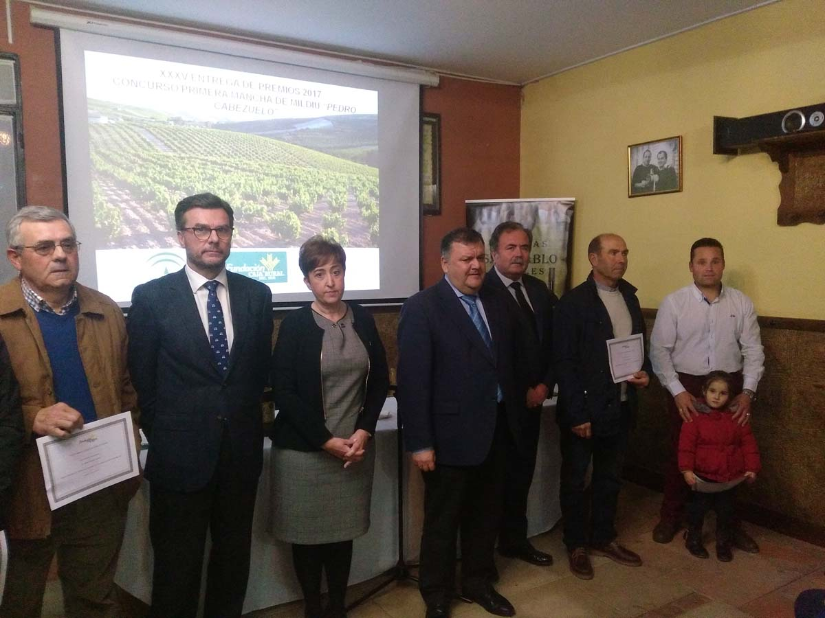 XXXV entrega de premios 2017 Concurso Primera Mancha de Mildiu Pedro Cabezuelo