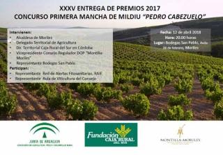 Entrega de Premios Concurso Primera Mancha de Mildiu 2017