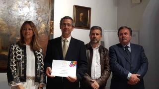 Recogida premio Vinavin Oro para nuestro Vinagre Balsámico La Aurora
