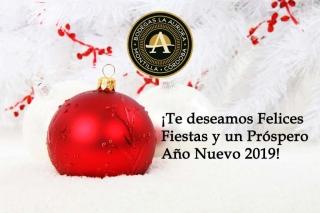 Felices Fiestas y Próspero Año Nuevo 2019