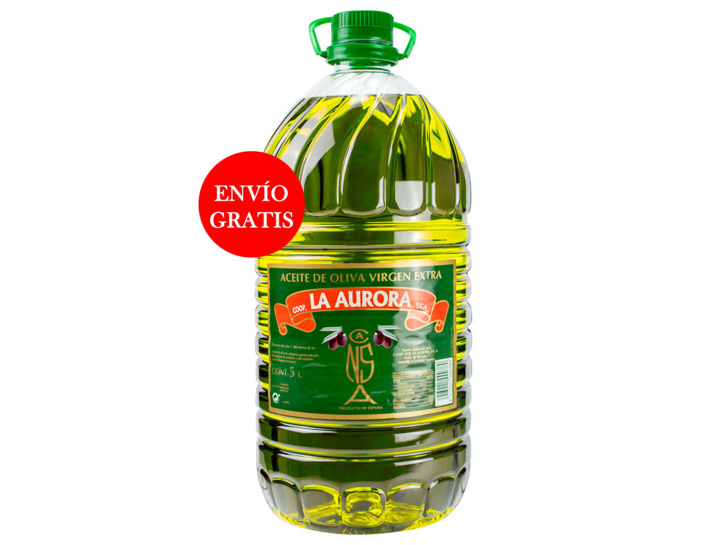 Aceite de Oliva Virgen Extra La Aurora 5L (3 Botellas)