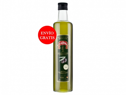 Aceite de Oliva Virgen Extra La Aurora 500ml (12 Botellas)