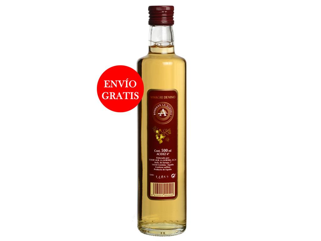 Vinagre de Vino La Aurora - Cristal 500 ML (12 Botellas)