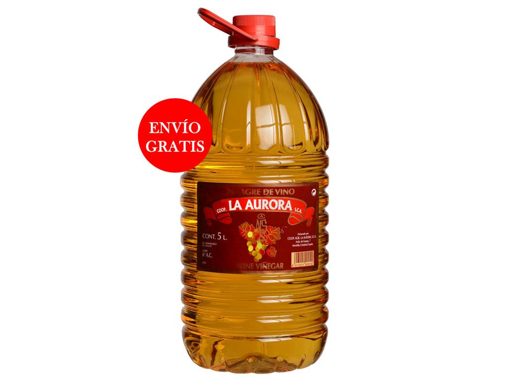 Vinagre de Vino La Aurora - Pet 5L (3 Botellas )