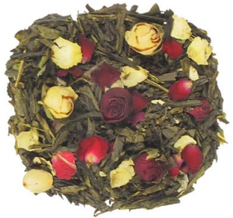 té verde con rosas