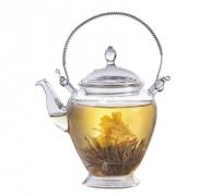 tetera cristal para flor de té