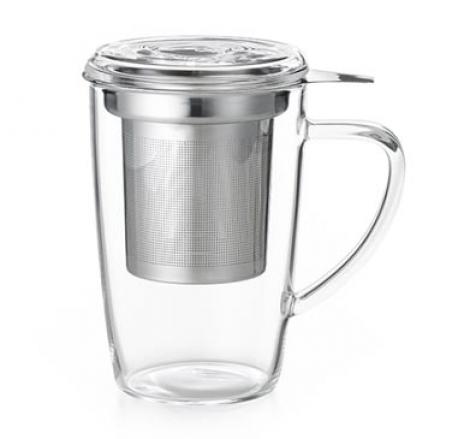 Taza de cristal con filtro para infusiones tienda online for Tazas de te con tapa