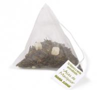 té verde y blanco pirámides