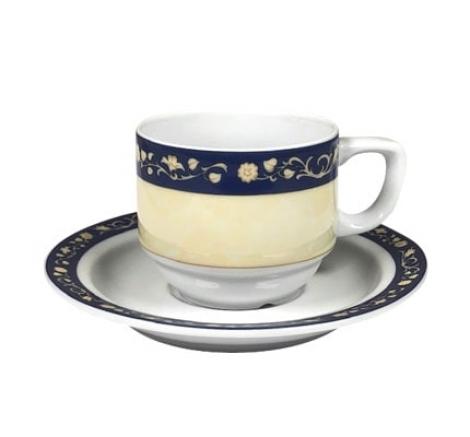 taza café con plato