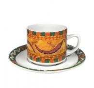 taza té con plato