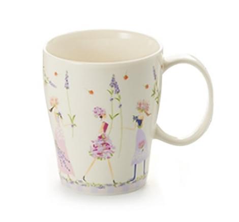 taza porcelana decorada