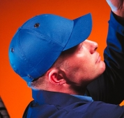 Casco tipo gorra S18 azulina